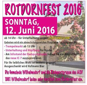 Rotdornfest 2016