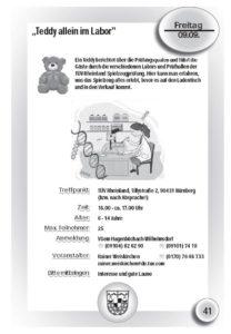 Teddy allein im Labor