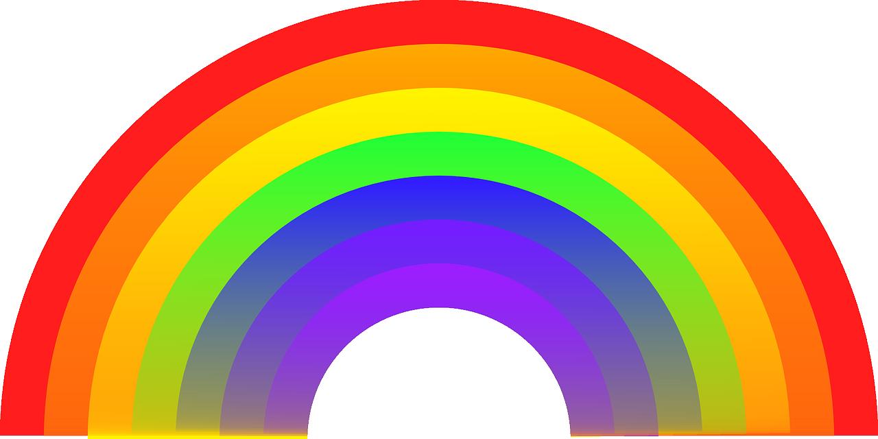 Ein Regenbogen als Zeichen gegen Corona - VGem